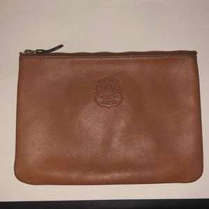 Ghurka Small Document Pouch Chestnut Mint!